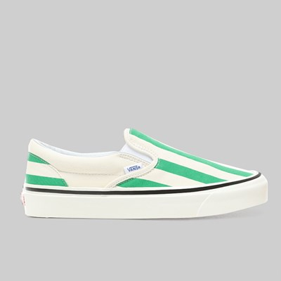 VANS SLIP ON ANAHEIM 'BIG STRIPES' OG EMERALD OG WHITE